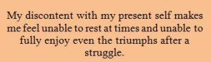 My discontent